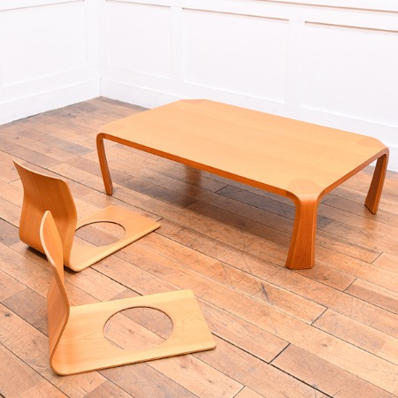 天童木工 座卓 & 座椅子 3点セット