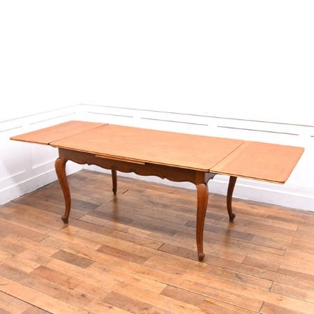 フランスアンティークスタイル ドローリーフテーブル