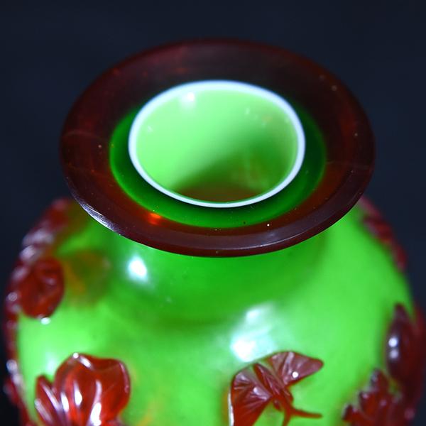 乾隆ガラス 中国花瓶