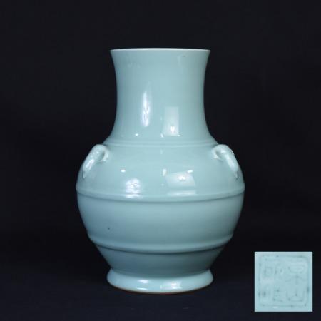 宮永東山 青磁 花瓶