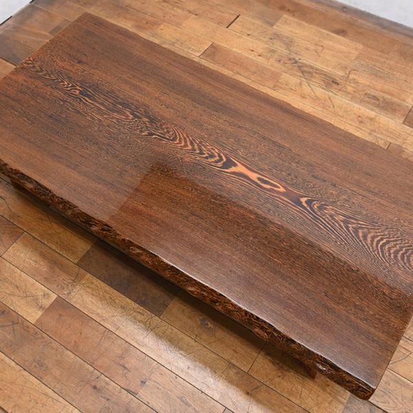 #31386 鉄刀木 一枚板 座卓 コンディション画像 - 2