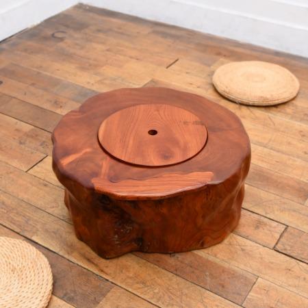 欅刳貫火鉢