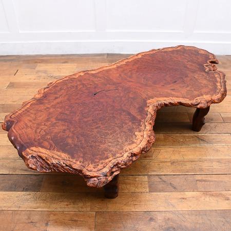 花梨一枚板 瘤杢座卓