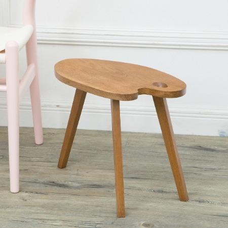 オーク材パレット型サイドテーブル