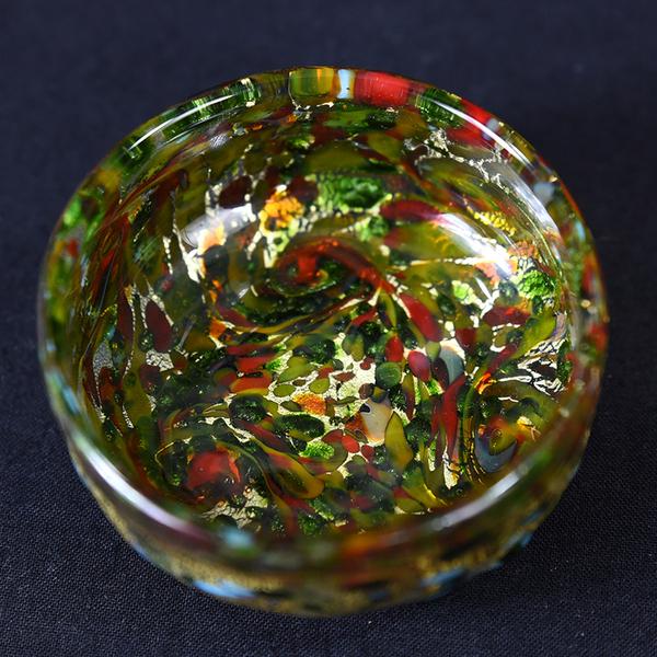 大川薫 玻璃ぐい呑 共箱付き