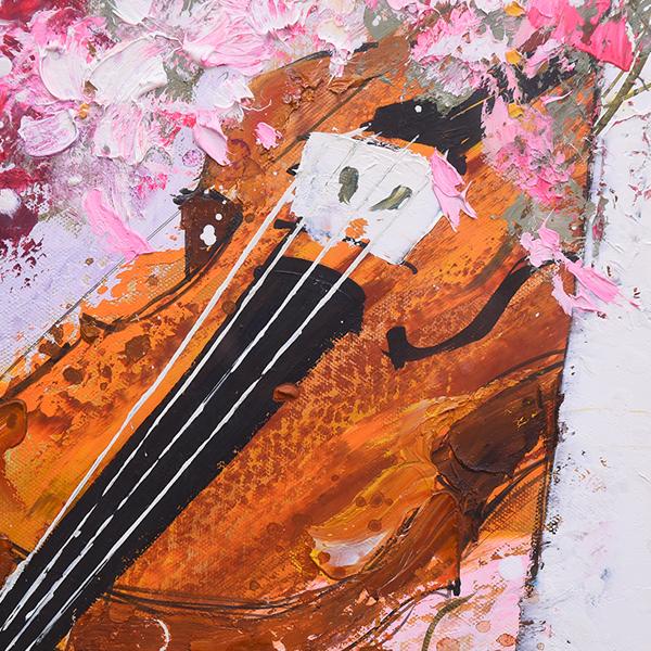 池田秀郎 [ バイオリンと花 ] 20号 油彩額装
