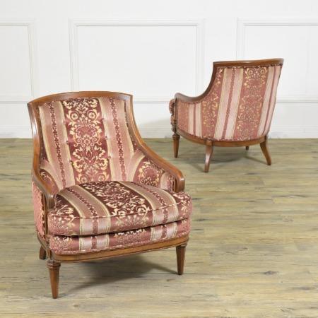 Upholstery ローバックチェア2脚セット