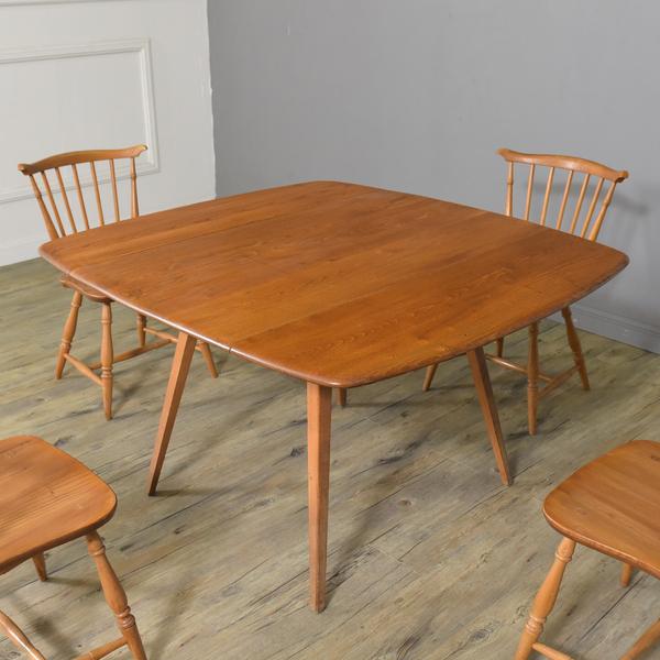 Ercol レクタングル ドロップリーフダイニングテーブル 492