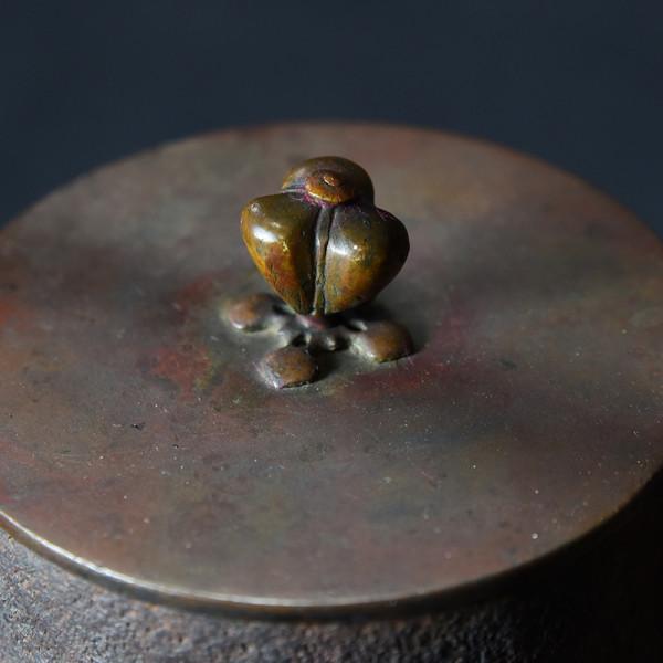 桐葉紋 瑞豊 鉄瓶