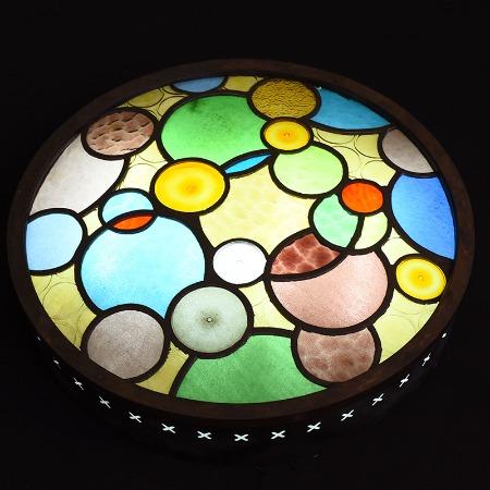 ステンドグラス アールデコ様式 照明