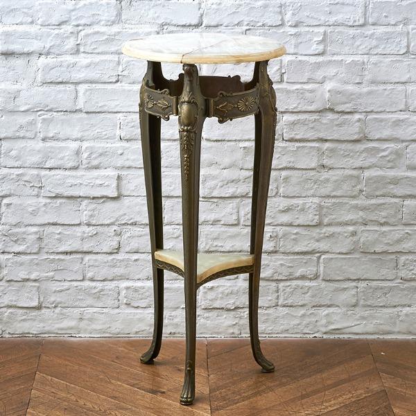 大理石オニキス サイドテーブル