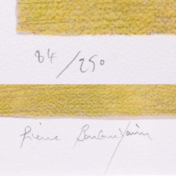 ボンコンパン [ 黄色いチューリップ ] 84/250 リトグラフ