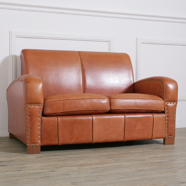 LEATHER SOFA 2-SEATER