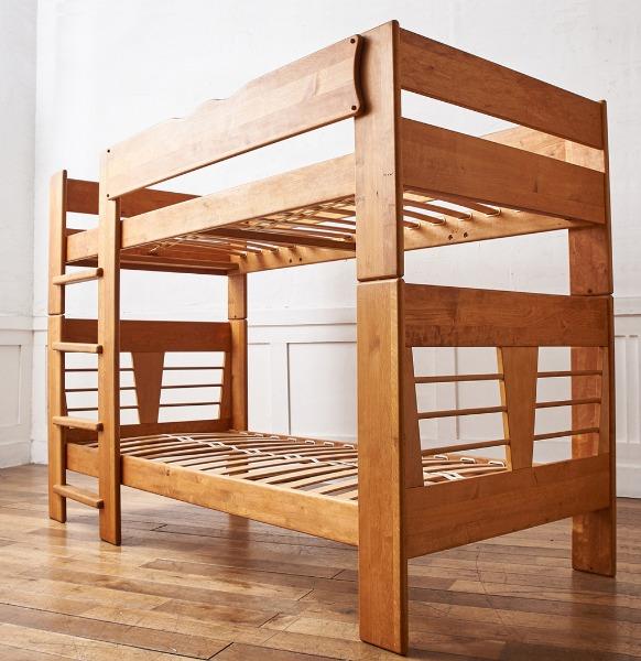 TEAM7 アルダー無垢材 二段ベッド