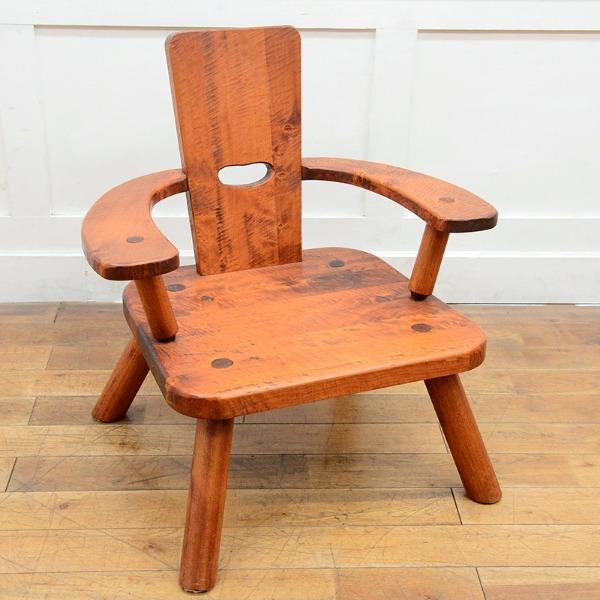矢澤金太郎 檜無垢材 肘掛け椅子