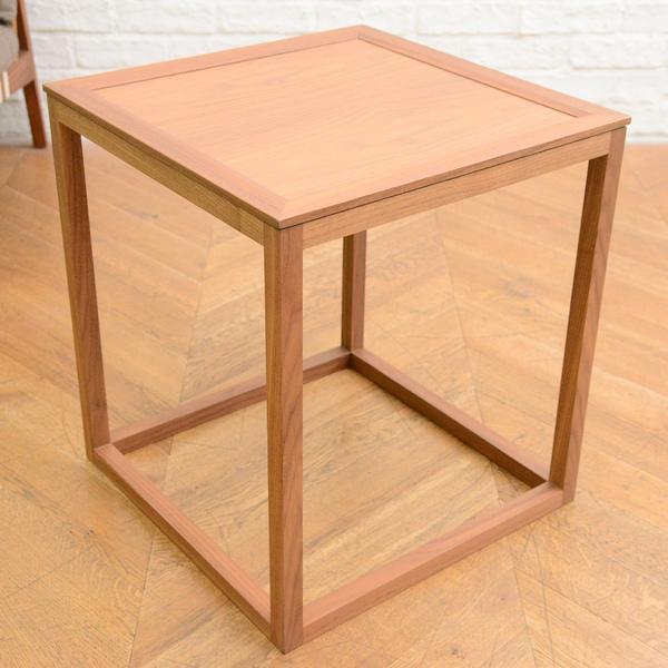 柏木工 ウォールナット材サイドテーブル