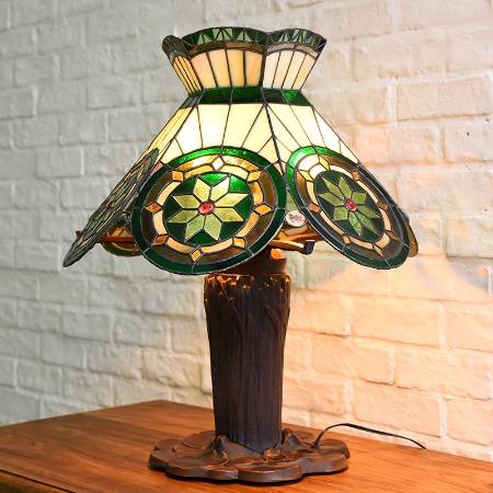 ステンドグラス 年代物テーブルランプ