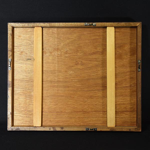 畦地梅太郎 [ 鳥と山男 ] 木版画額装