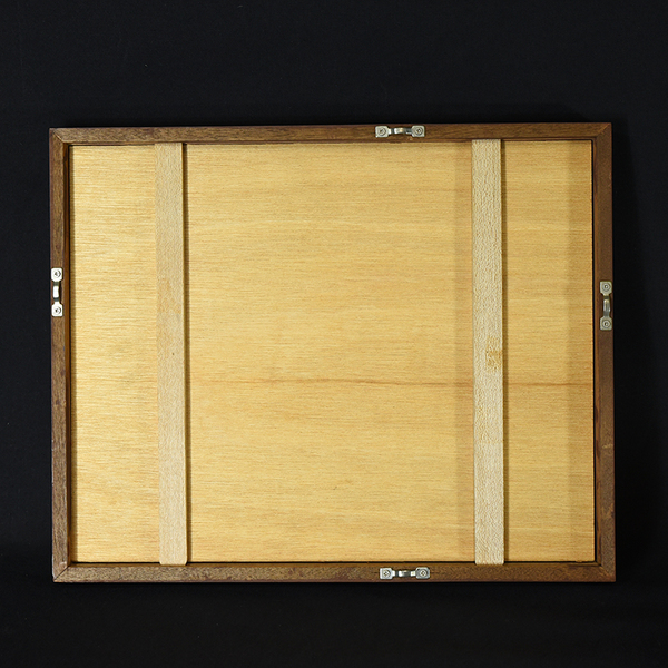 畦地梅太郎 [ 二羽の鳥と太陽 ] 木版画額装