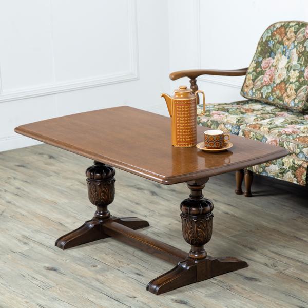 英国アンティークスタイル バルボスレッグセンターテーブル