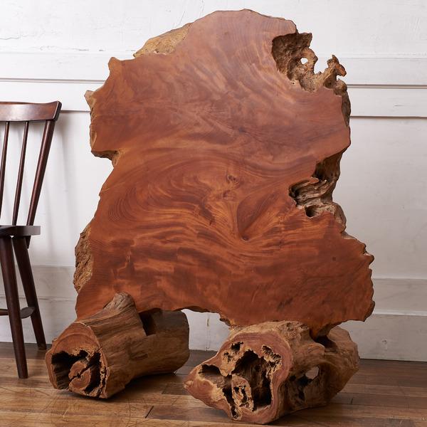 欅無垢材 一枚板衝立