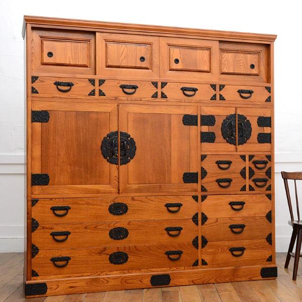 仙台箪笥様式 欅材 間箪笥
