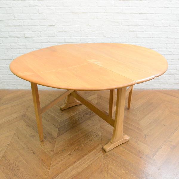 ERCOL オーバル型 ゲートレッグ バタフライテーブル