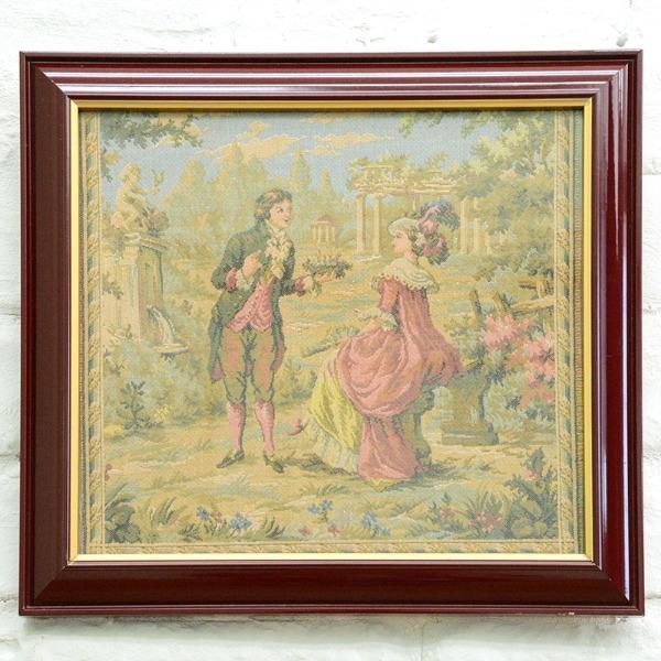 フランス製 ゴブラン織り額装