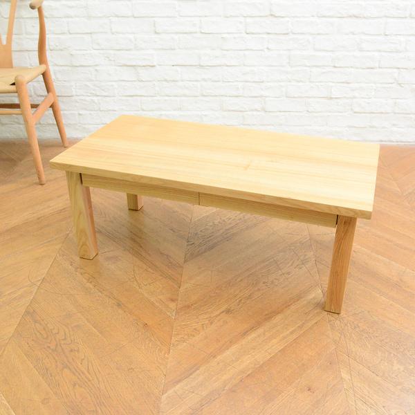 無印良品 タモ無垢材 ローテーブル