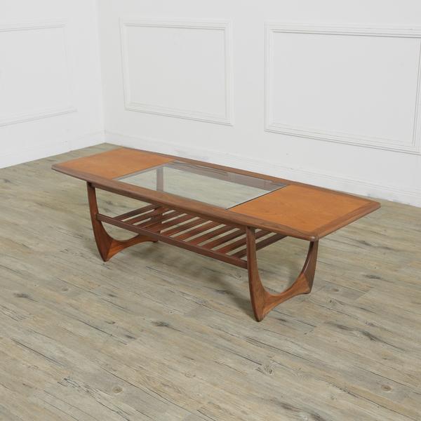 ガラストップロングジョンテーブル(Occasional table 3555)