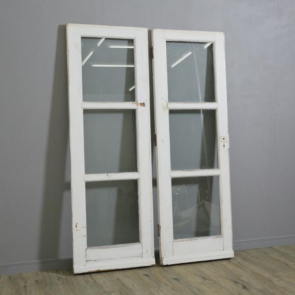 英国ヴィンテージ 両開き木製ドア