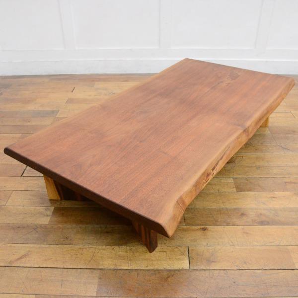 ウォールナット一枚板 座卓