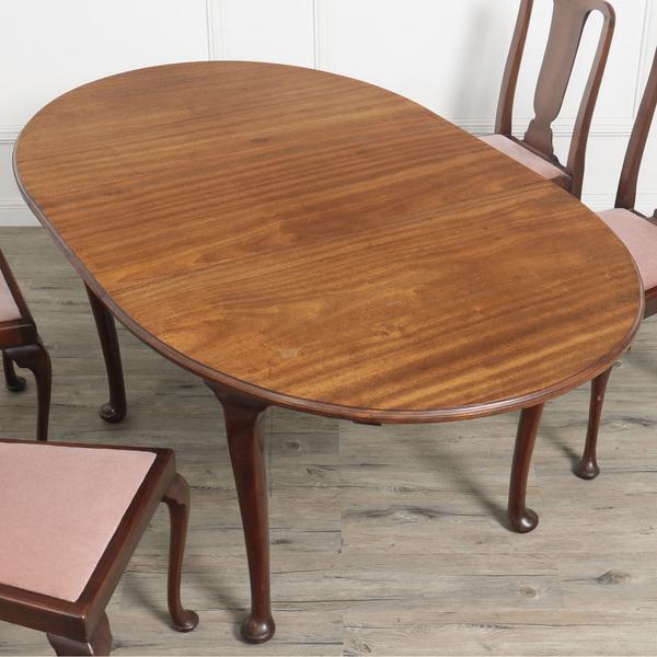 クイーンアン オーバルダイニングテーブル