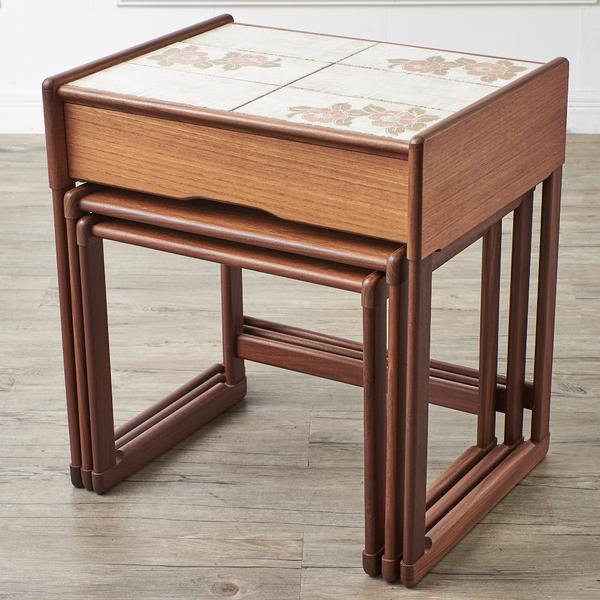 ジープラン G-PLAN タイルトップ ドロワーネストテーブル
