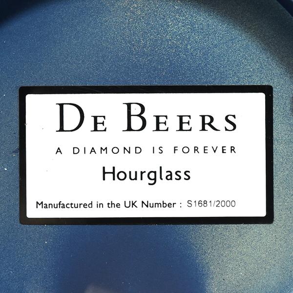 DE BEERS ミレニアム アワーズグラス ダイヤモンド 砂時計 S1681/2000