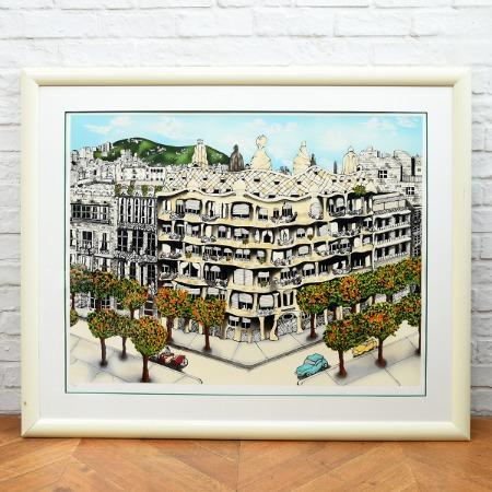 Linnea Pergola / Antoni Gaudi [ Casa mila ] 199/295 セリグラフ 大判額装