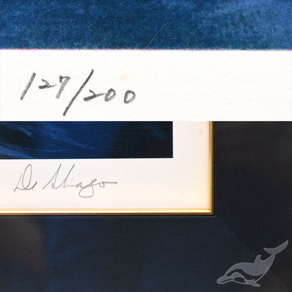 William Deshazo [  Big wave ] 127/200 風景画 大判額装