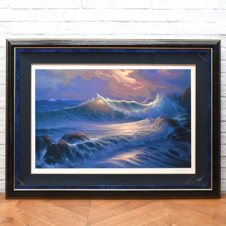 William Deshazo [  Big wave ] 127/200 風景画 大判額装