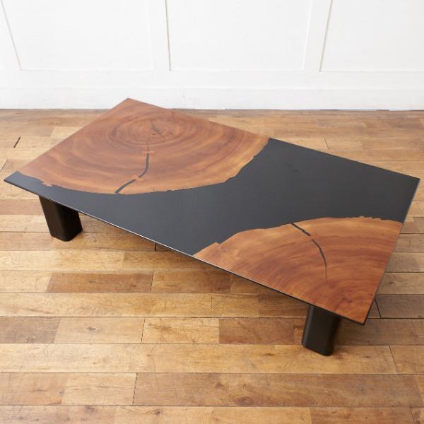 現代和具 松岡漆工 / 大楠年輪リビングテーブル