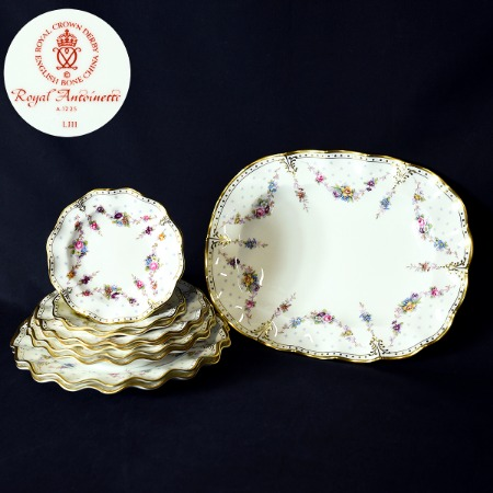 ROYAL CROWN DERBY / Royal Antoinette プレート10点
