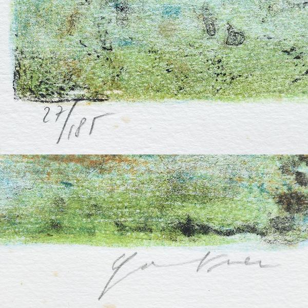 ベルナール・ガントナー  27/185 リトグラフ 風景画額装