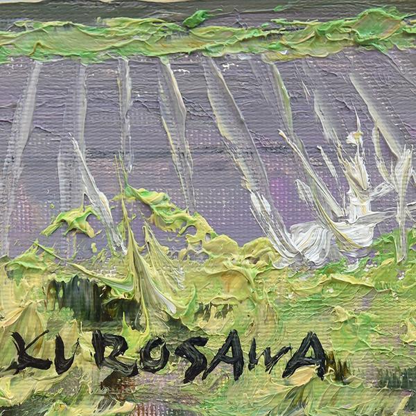 黒沢純一 [ 安曇野の春 ] 油彩額装