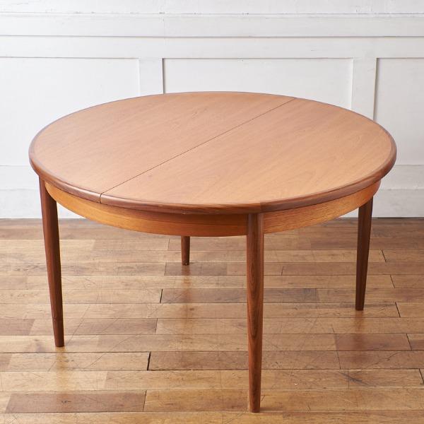 ジープラン G-PLAN (エベネゼル・グーム Ebenezer Gomme) / UK G-PLAN エクステンション ラウンドダイニングテーブル