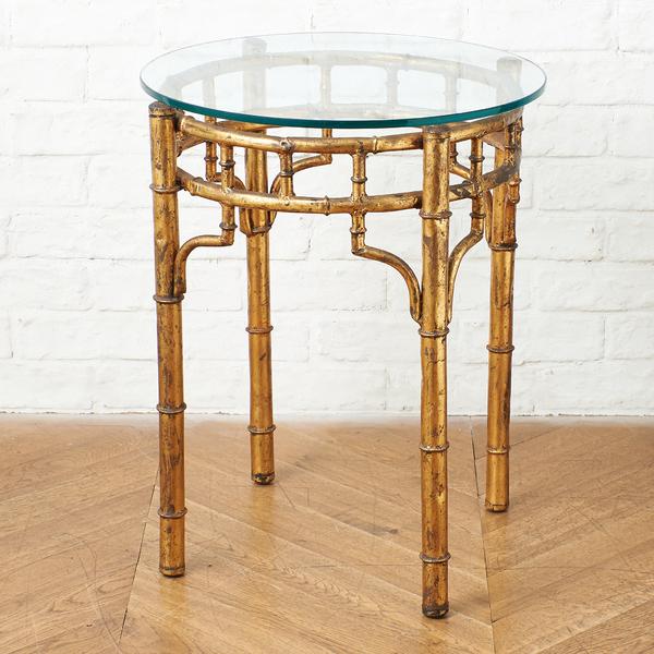 オリエンタル ラウンド サイドテーブル