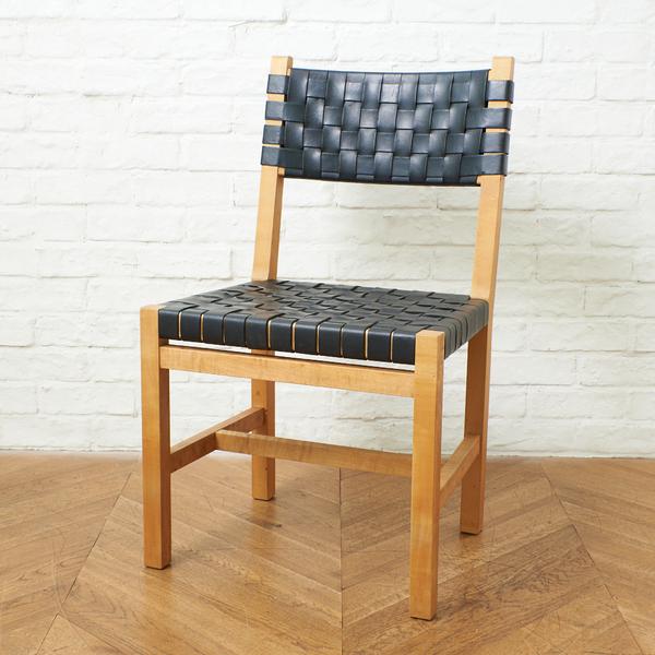 北の住まい設計社 Rustic chair 黒革バンド
