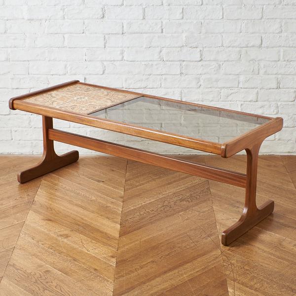ジープラン G-PLAN (エベネゼル・グーム Ebenezer Gomme) / UK G-plan タイル&ガラストップコーヒテーブル