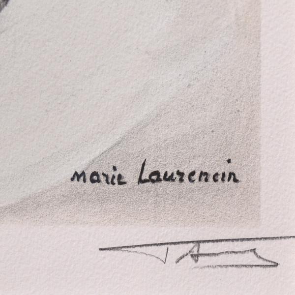 マリーローランサン [ 犬を抱く女 ] リトグラフ 額装