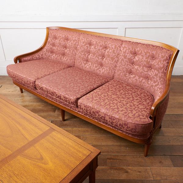 ドレクセル・ヘリテイジ DREXEL HERITAGE / USA Upholstery ローバック トリプルソファ