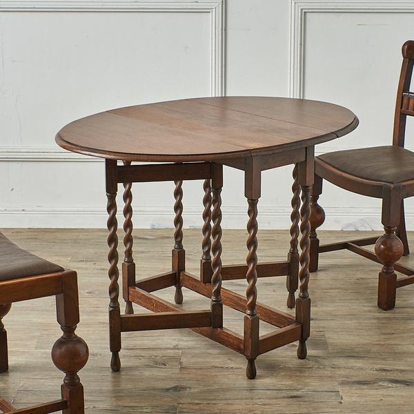 英国アンティーク オーバルゲートレッグテーブル