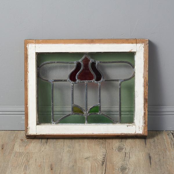 #37082 イギリス アンティーク アールデコスタイル ステンドグラス窓 コンディション画像 - 4